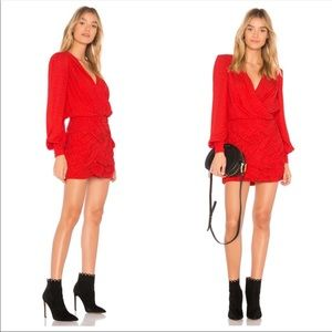 Free People Let's Dance Red mini Dress 8 NWT
